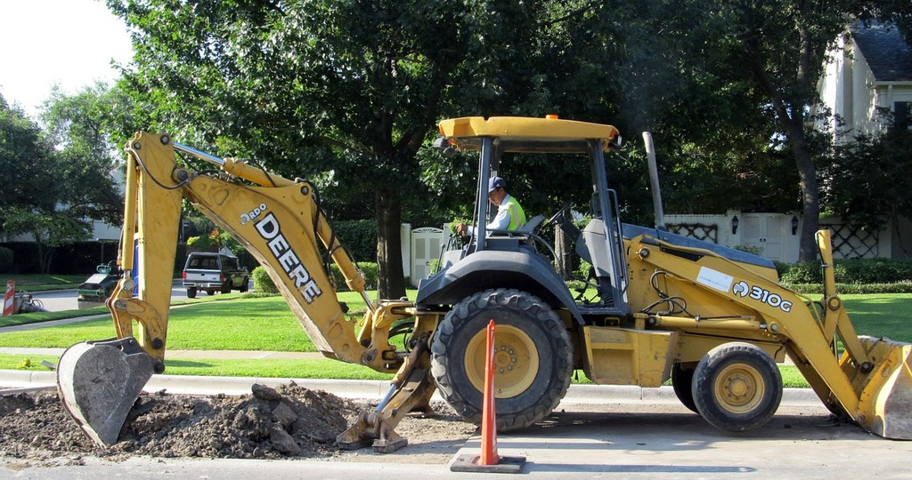 Trenching Back Hoe