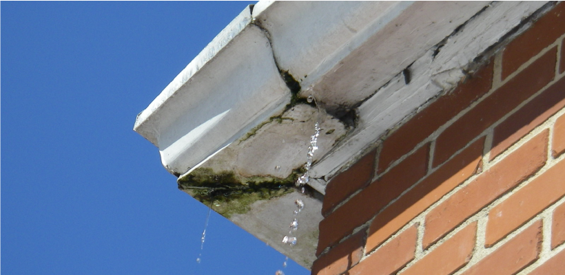 Gutter leaking at the seams